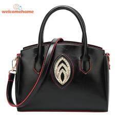 Elegant Women OL Rhinestones Shoulder Totes PU Leather Messenger Handbags