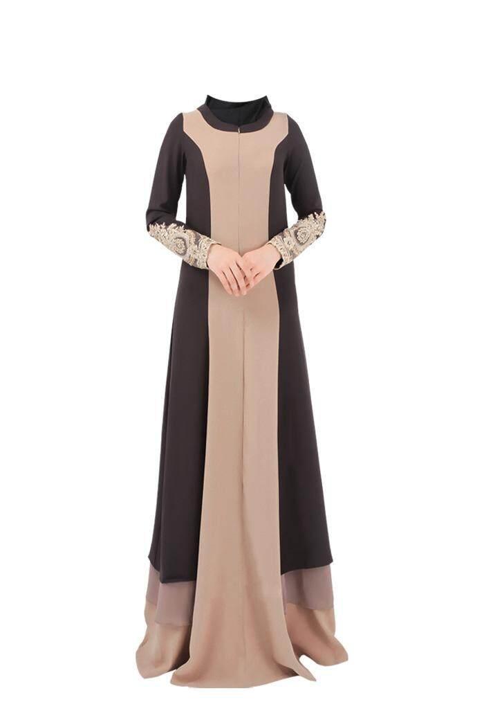 Stok Tersedia Muslim Warna Baru-Sesuai dengan Ukuran Besar Wanita Gamis Wanita Gaun Bordir