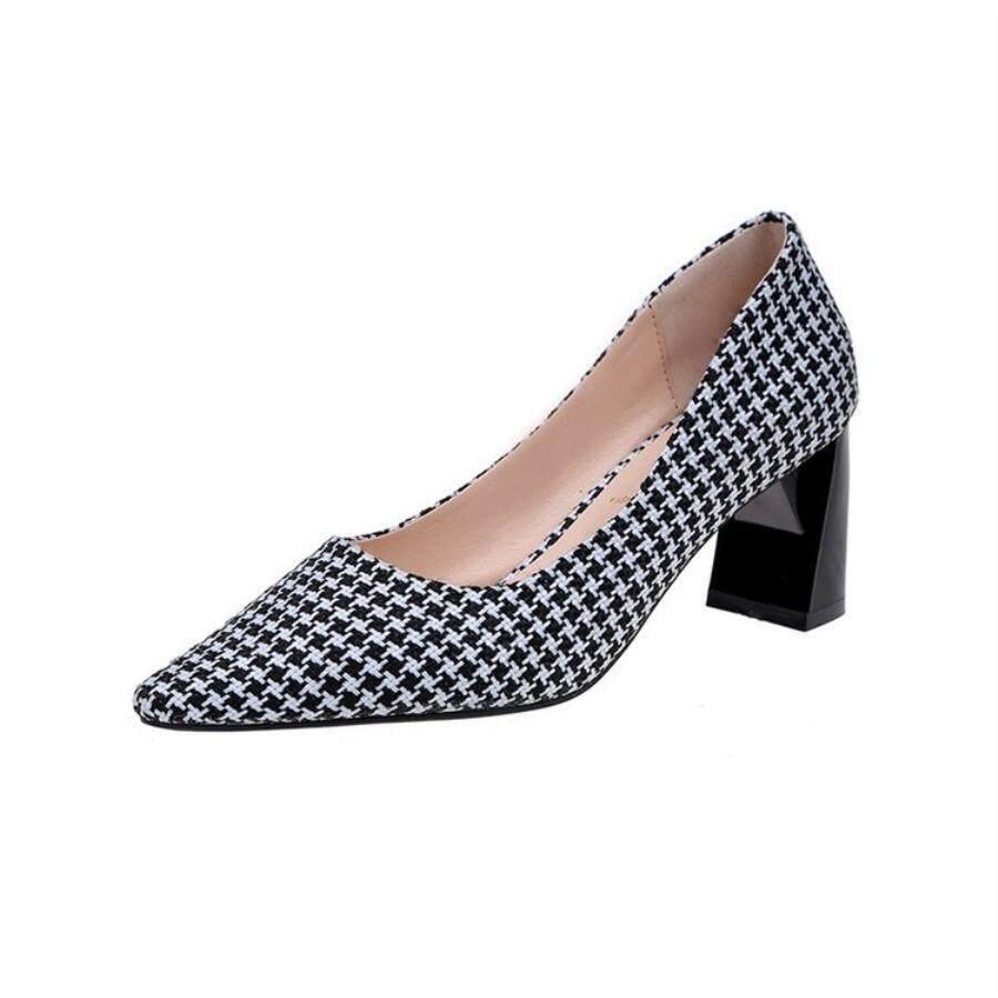 Populer Sepatu Wanita Tinggi Profil Kepala Tajam Mulut Dangkal Elegan Wanita Ribu Burung-burung Modis Semua Jenis Sepatu Mewah. -Internasional