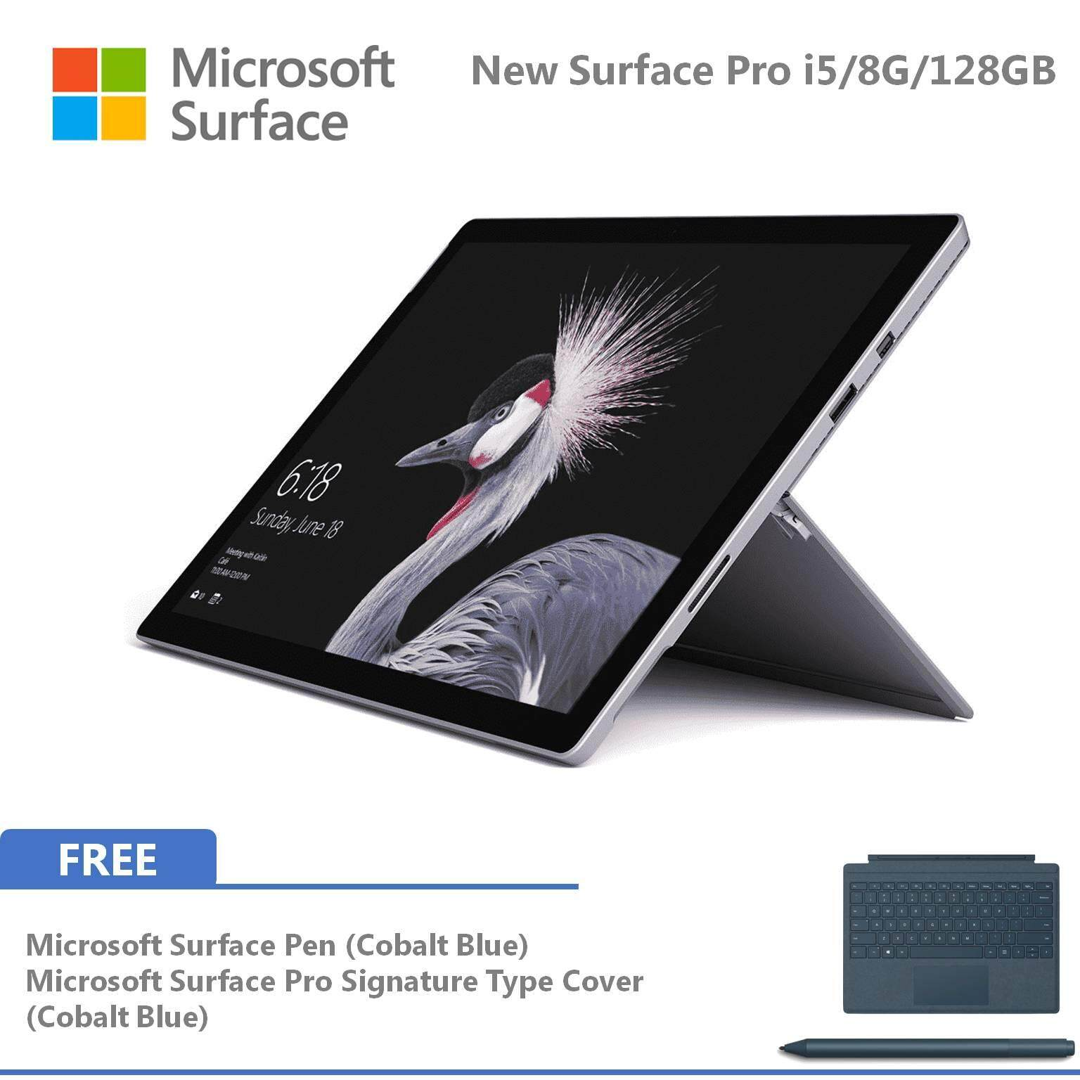 Microsoft New Surface Pro - 128GB / Intel Core i5 - 8GB RAM FOC Signature Type Cover + Pen Malaysia