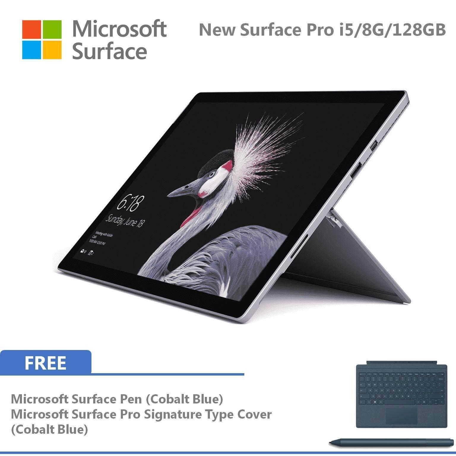 Microsoft New Surface Pro - 128GB / Intel Core i5 - 8GB RAM FOC Signature Type Cover + Pen Malaysia