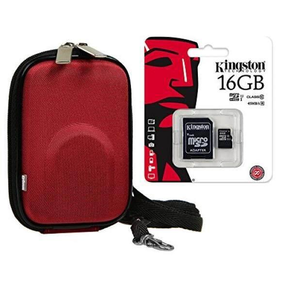 Foto Kamera Tasche Kotak Anda Membusuk Set MIT 16 GB SDHC Speicherkarte F? R F? R Sony DSC-RX100 Cybershot DSC W830 WX350/Canon IXUS 285 HS 275 180 175/Panasonic Lumix DMC SZ10/Nikon COOLPIX A300 A10-Intl