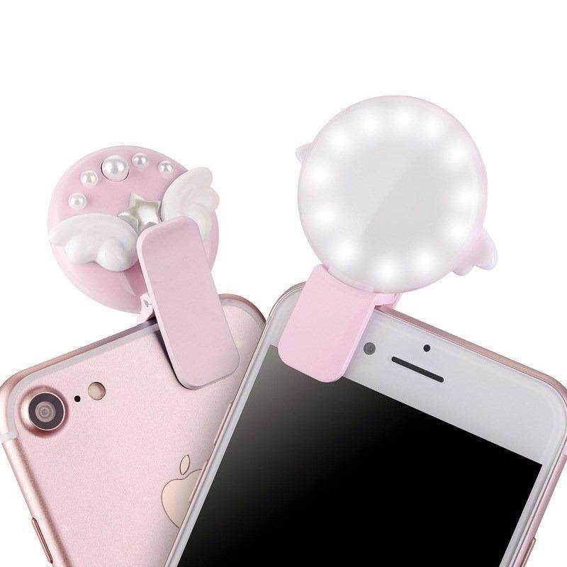 Portable Selfie LED Ring Flash Fill Light Camera Light Spotlight Clip Phone Camera Mobile Phone Fill
