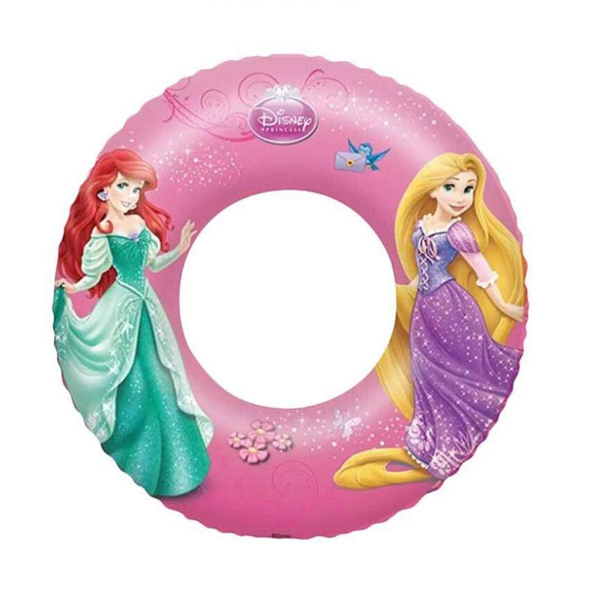 "Bestway 91043 Disney Princess Pink Inflatable Swim Ring 56cm 22"" Beach Summer Fun Pool"