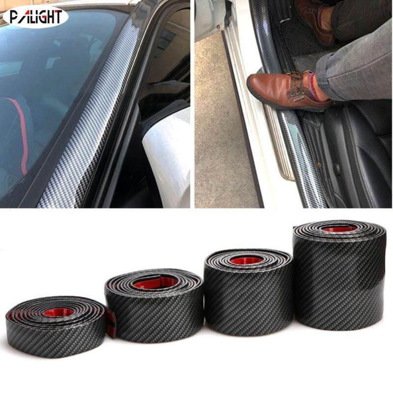 PAlight Car Auto 1M Surface Protector Strip Carbon Fiber Bumper Edge Anti-collision Anti-Rub(size:100cm*3cm)