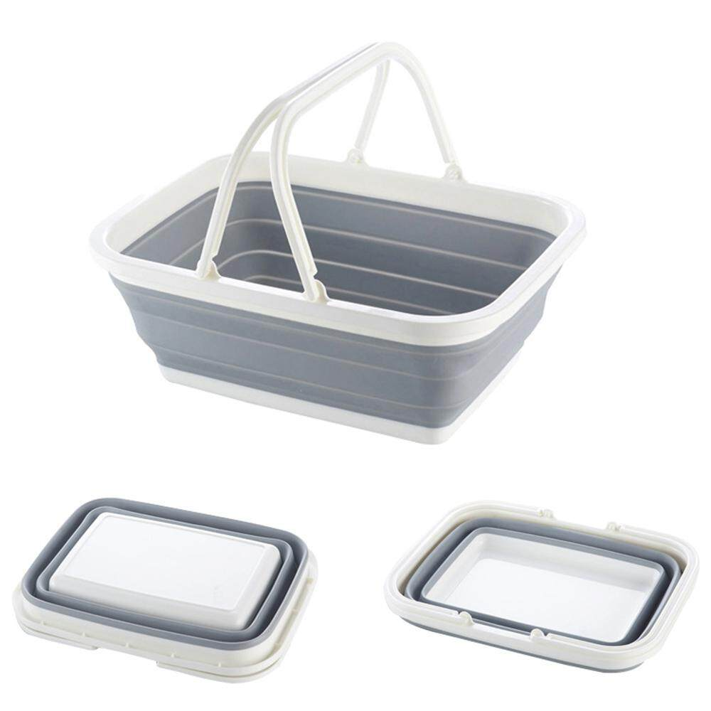 leegoal Multifunctional Foldable Storage Basket Organizer Portable Storage Of Fruit And Vegetables Baskets,38*28*4.5CM