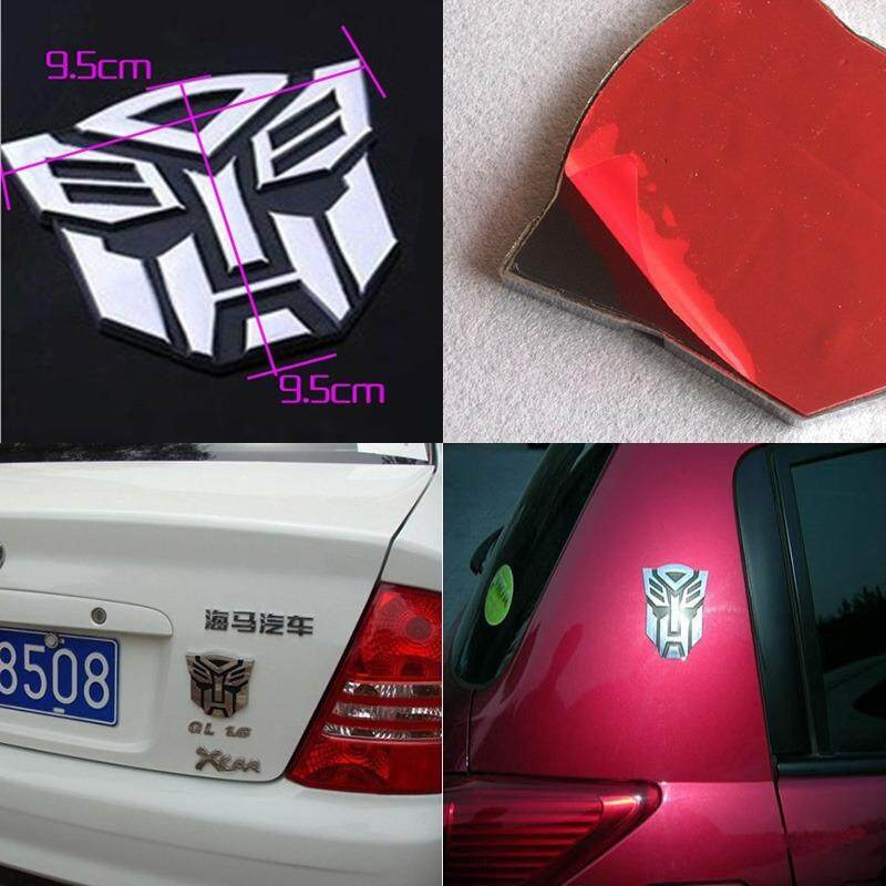 Fitur Universal 3d Pure Metal Transformers Logo Sticker Car Styling