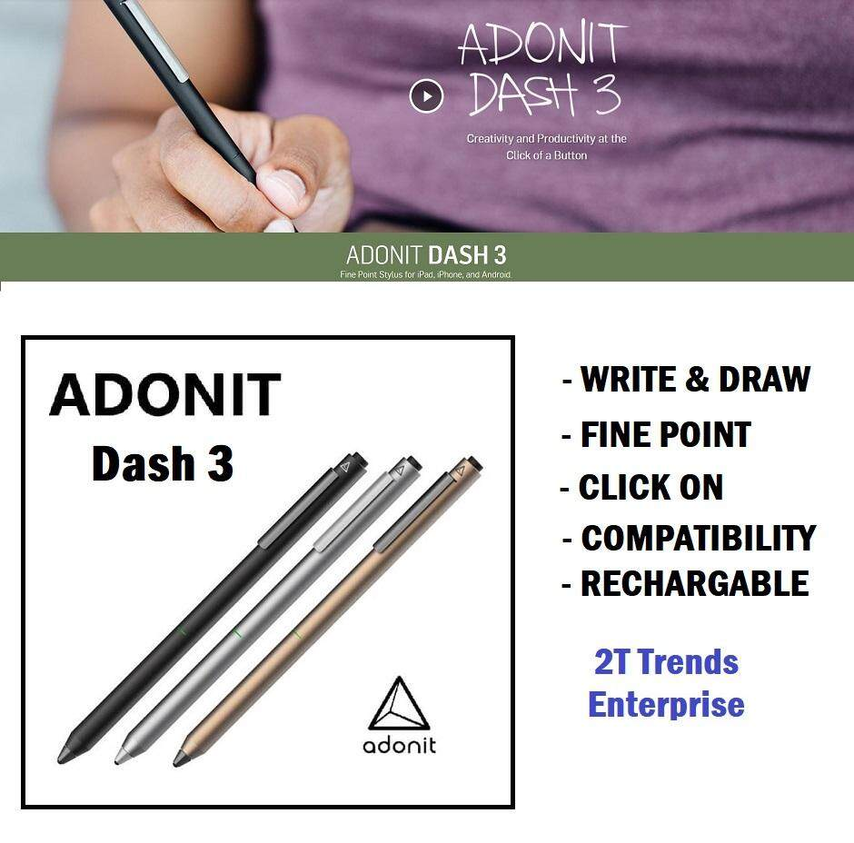 Adonit Dash 3 Fine Point Precision Stylus Pen Touchscreen ORIGINAL