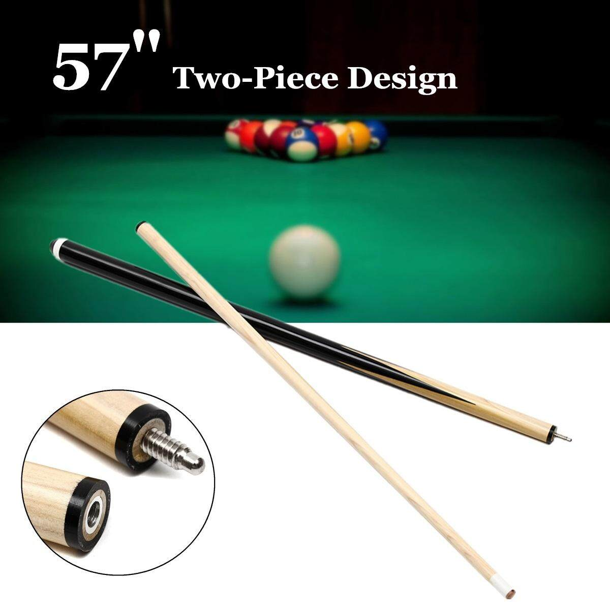 57 2-Piece 1/2 Eco Pool Jointed Snooker Cue Stick For Billiards Game Sport By Ferry