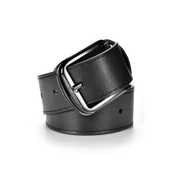 Fashion Metal Buckle Dress Casual Leather Belt Mens Casual Leather Belts Black