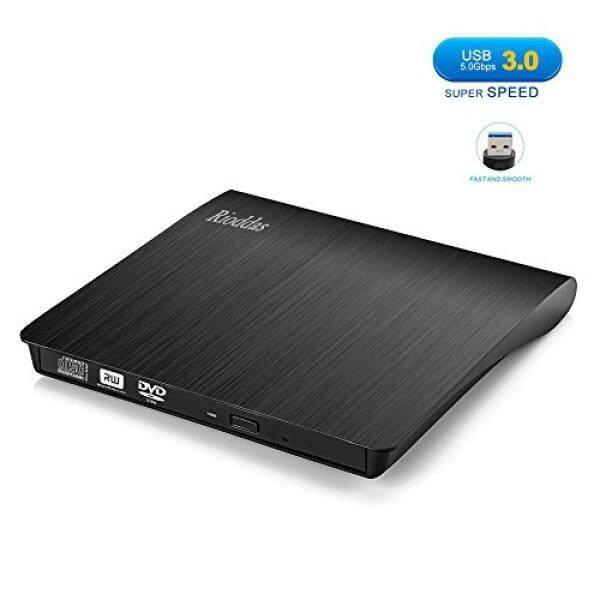 External Components Rioddas External CD Drive, USB 3.0 Portable CD/DVD +/-RW Drive Slim DVD/CD ROM Rewriter Burner Superdrive High Speed Data Transfer for Laptop Desktop PC Windows and Linux OS Apple Mac Macbook Pro - intl