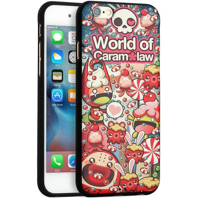 Mo Rui(Morock) the apple iPhone 6 plus cellular phone hull apple 6 s Plus cartoon Huo gum hull 5.5 inch protection set all of the ectype hull wrap to defend to fall off outer shell(【Have no goods 】- bottom of sea world)