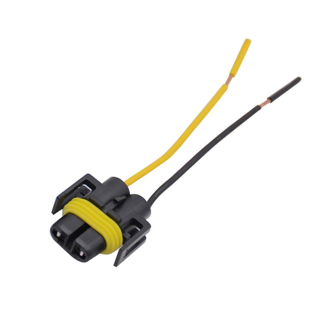 Fitur 2pcs H8 H11 Wiring Harness Socket Female Adapter Car Wire Connectors Connector Cable Plug For Hid Xenon