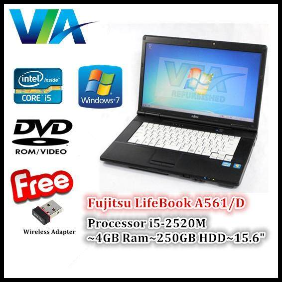 Refurbished Laptop Fujitsu A561/D Core i5~4GB~250GB~Win7 Pro~Nano Wifi Malaysia