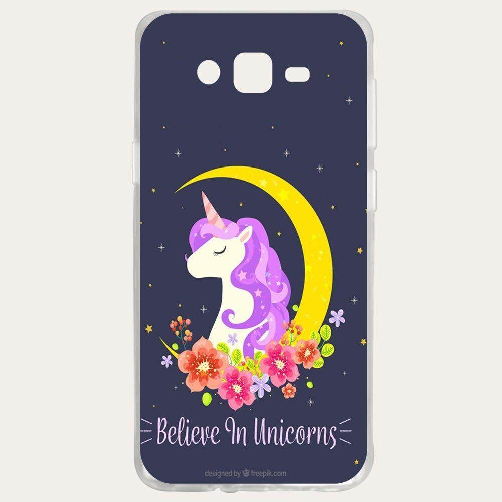 Unicorn Silicon Soft Back Phone Case Cover For Samsung Galaxy J7 2015/J7 Core