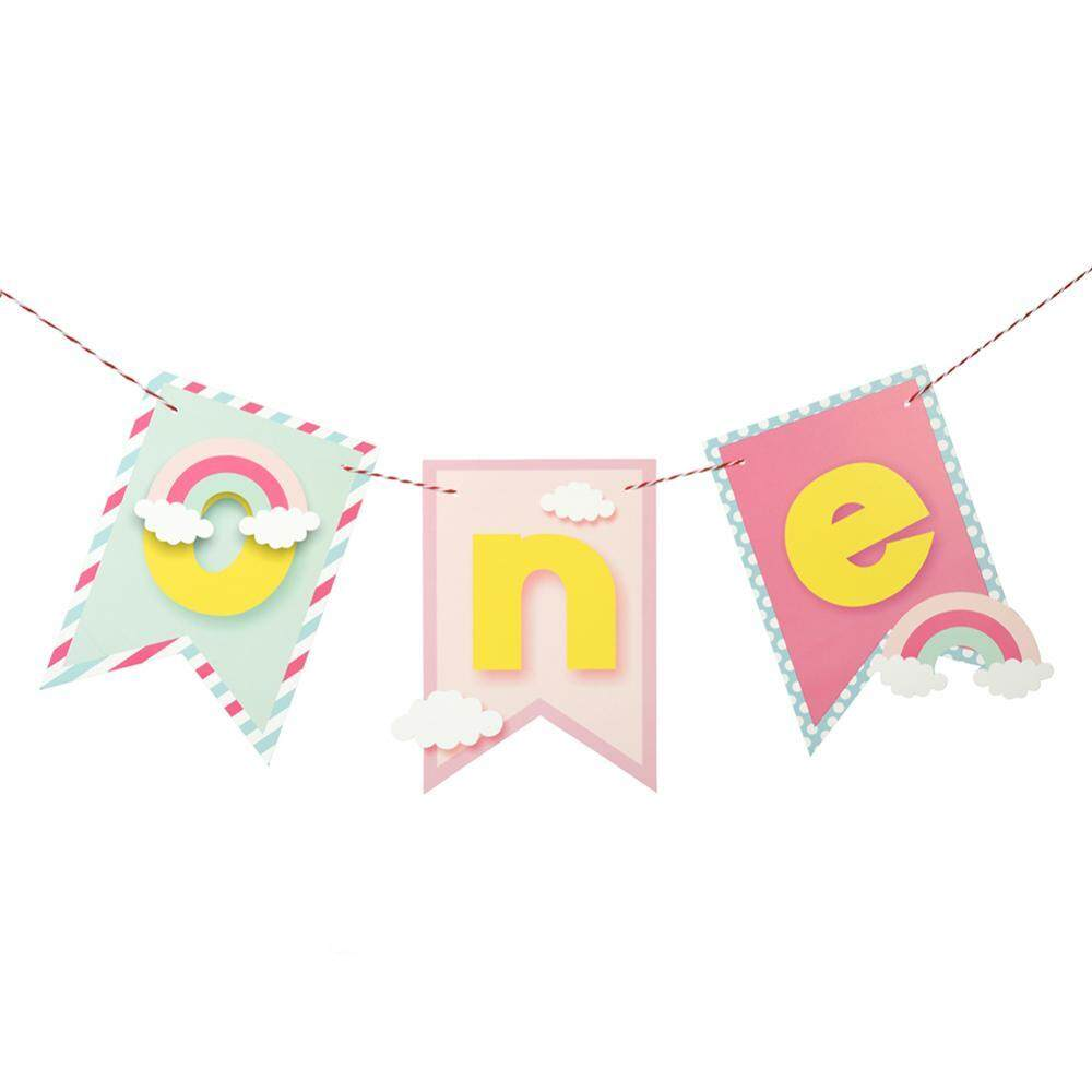 ... BAJU BAYI Best Quality Product Deals Source · ONE Letter Baby Shower Banner Bunting One Year Old Birthday Party Table Hanging Flag Decoration