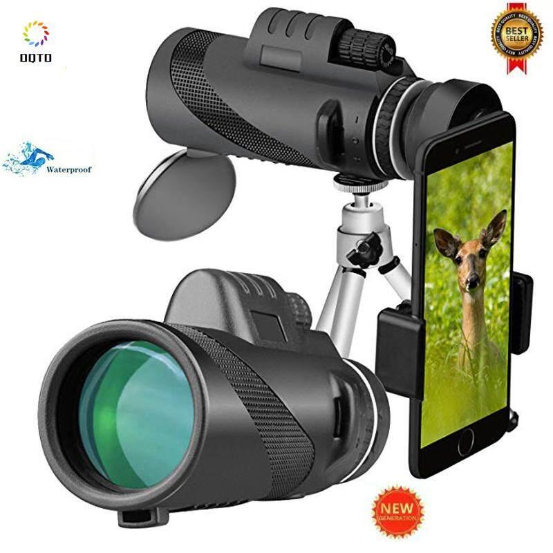 Universal Monocular untuk Malam 40X60 Zoom Lensa Telepon Selular Tahan Air Definisi Tinggi Outdoor Lingkup Teleskop dengan Klip Telepon dan Tripod