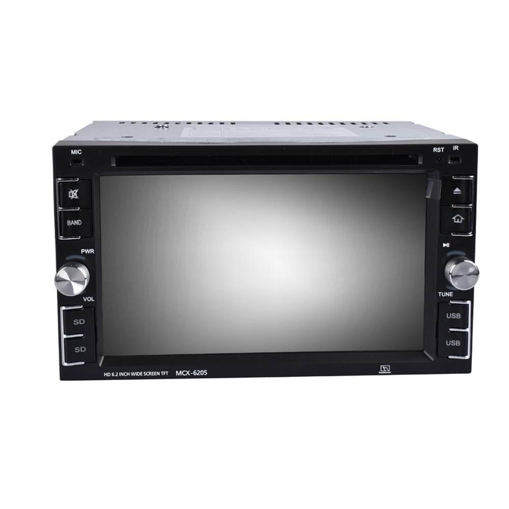 Poya 2 DIN 7'' Touch Screen Car DVD CD MP3 MP5 Player In Dash Stereo Radio USB