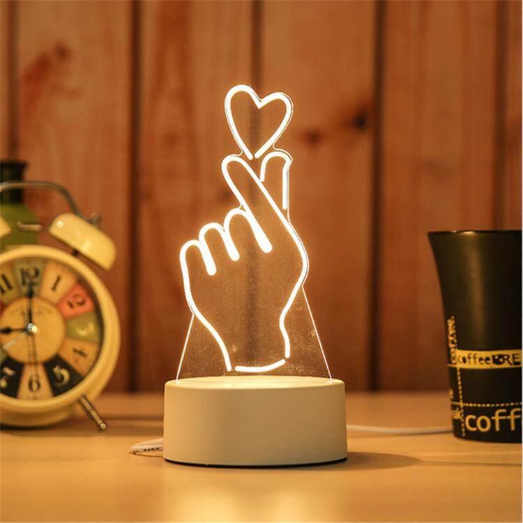 3D Optical Illusion LED Table Night Light(Love)