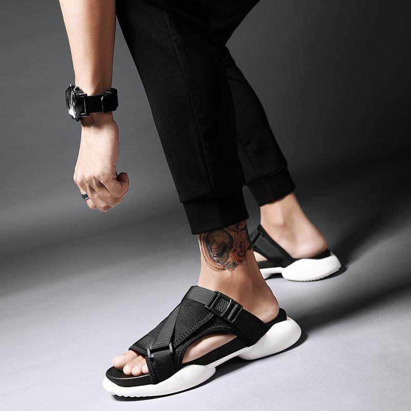2cc8adc08615 VIEW Personality Men s Sandals 2018 Summer New Korean Version of The Trend  of The Wild Sandals