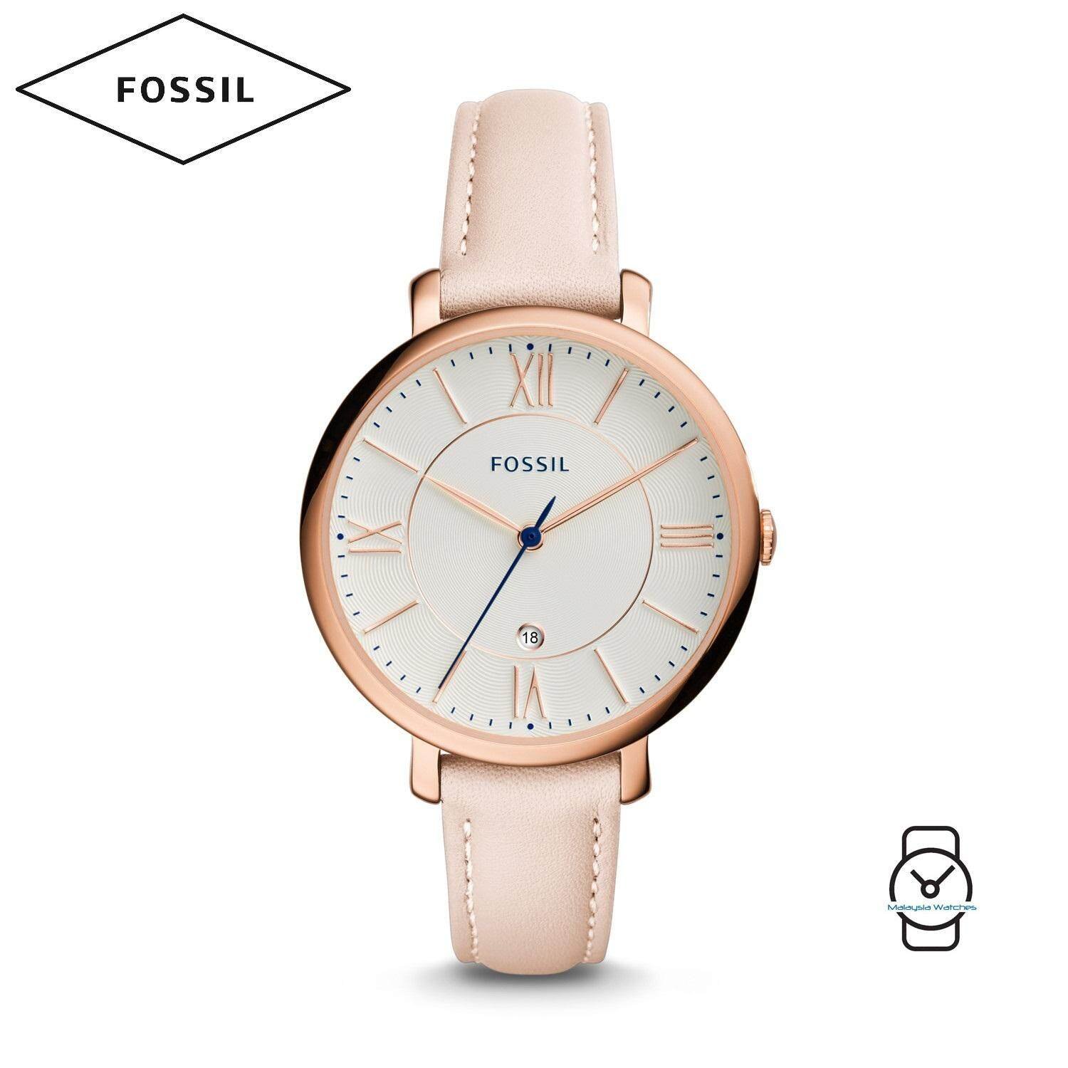 Features Fossil Women Es4151 Jacqueline Mother Of Pearl Dial Leather Es4149 Es 4149 Original Es3988 White Watch Light Pink