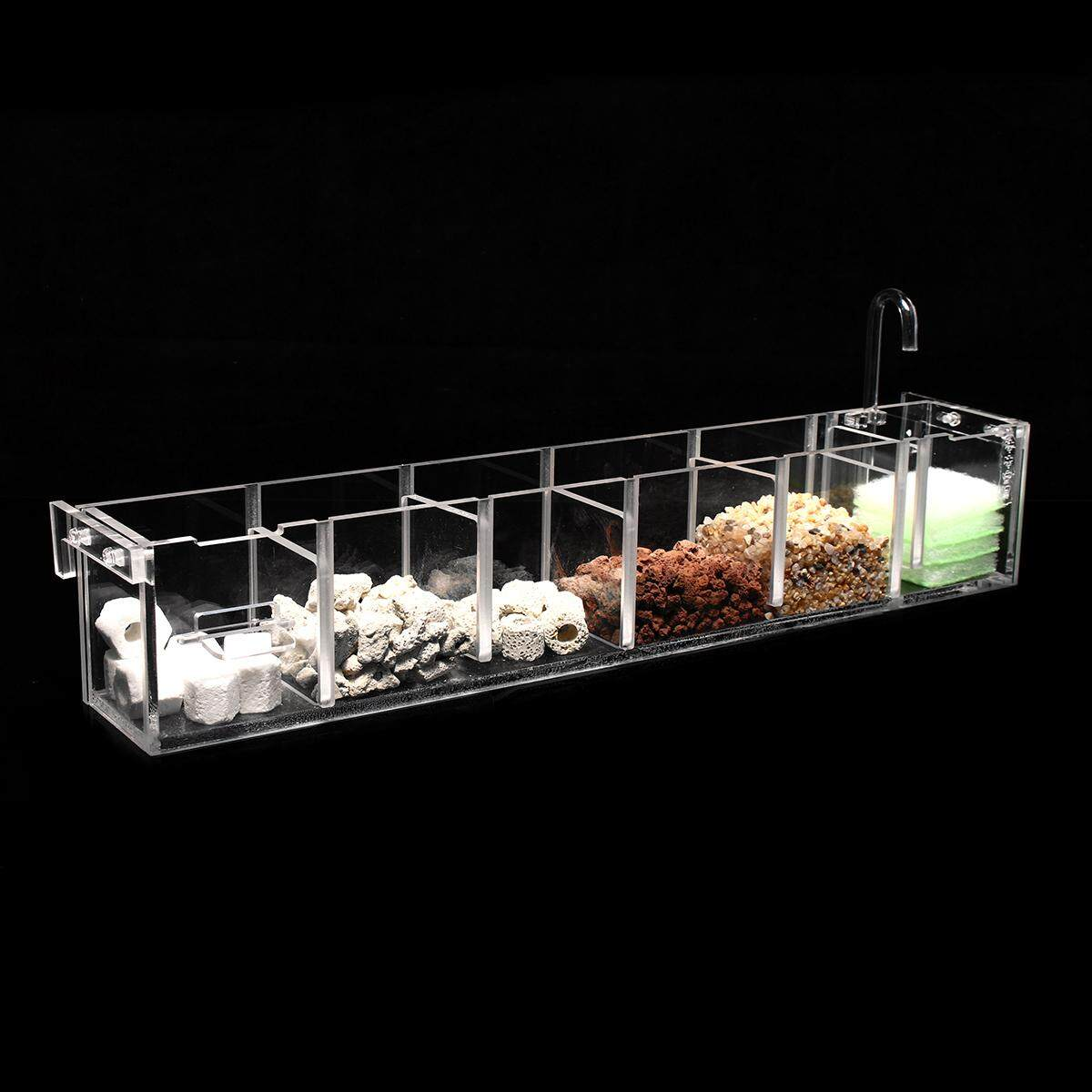 Acrylic Aquarium Fish Tank External Hang On Filter Box With Water Pump  6 Grids By Moonbeam.