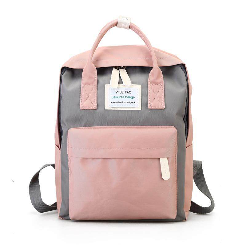 d10c0fa3bd6a Harajuku Simple Waterproof Canvas Backpack Hipster Mori Style Korean Style  College Style Junior High School bag