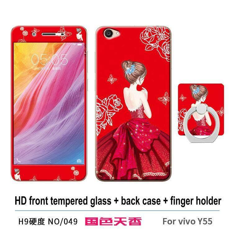 VIVO Y55 Y55A Y55L Y55S Multicolor Mewah 360 Gelar Penuh Casing TPU Lunak Plastik Case Casing