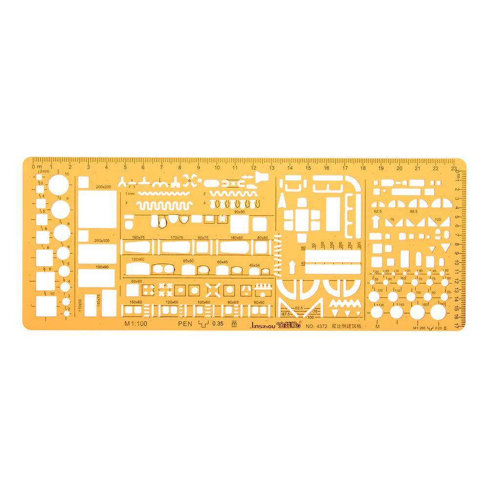Mua 1:100 1:200 Double Scale Combo Architecture Building Formwork Drawing Template KT Soft Ruler Stencil