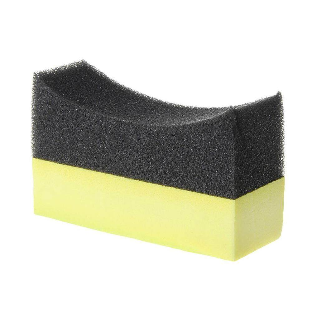 Car Tyre Brush Sponge Tire Dressing Applicator Crescent-Shaped Cleaning By Yomichew.