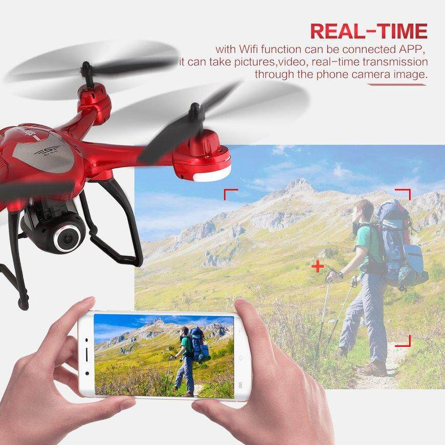 SJ R/C S30W 1080P Adjustable Wide Angle Camera Dual GPS FPV RC Drone Hovering