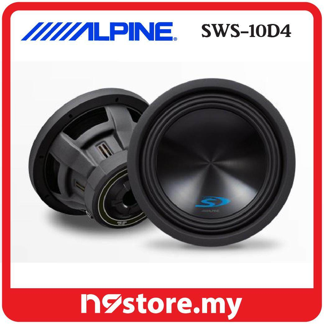 Alpine SWS-10D4 Type-S 10 Inch Subwoofer With Dual 4 OHM Voice Coils