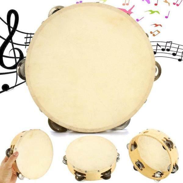 20Cm 12 Chũm Chọe Tambourine En Bois Peau De Mouton Bộ Gõ Musique Enfant