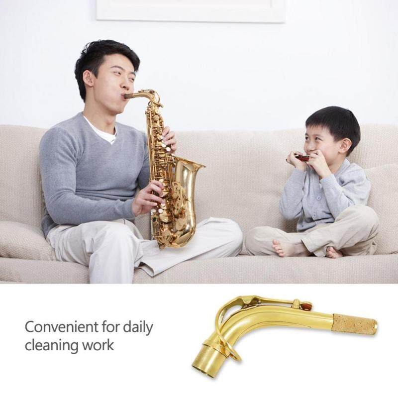 Brass Alto Saxophone Sax Neck with Clean Cloth Cork Grease Instrument Accessory Malaysia