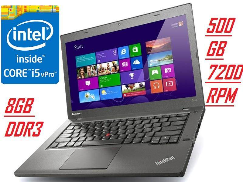 (Refurbised)LENOVO T440 INTEL CORE i5 4300u 1.9ghz to2.5ghzVPRO PROCESSOR/8GB DDR3 RAM/500GB HDD/14LED SECREEN/INTEL HDGRAPHIC /W8 PRO Malaysia