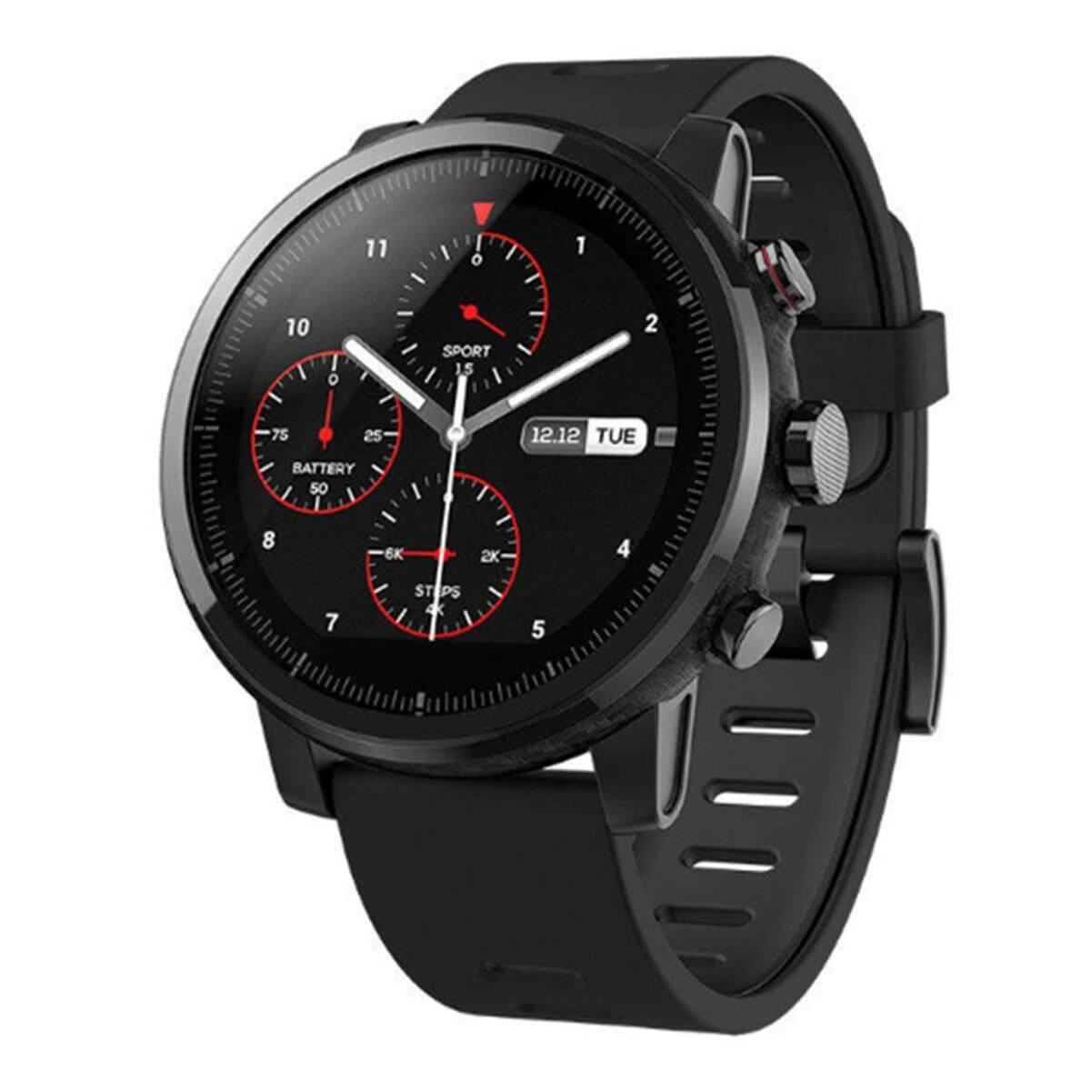 Xiaomi Huami Amazfit Stratos Kecepatan 2 Smartwatch-Hitam (Versi Bahasa Inggris)-Intl