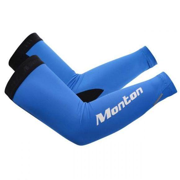 MONTON JOON CHOI BLUE CYCLING ARM SLEEVES SUN PROTECTION