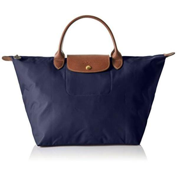 Longchamp Le Pliage Nylon Duffle Tote Bag Navy