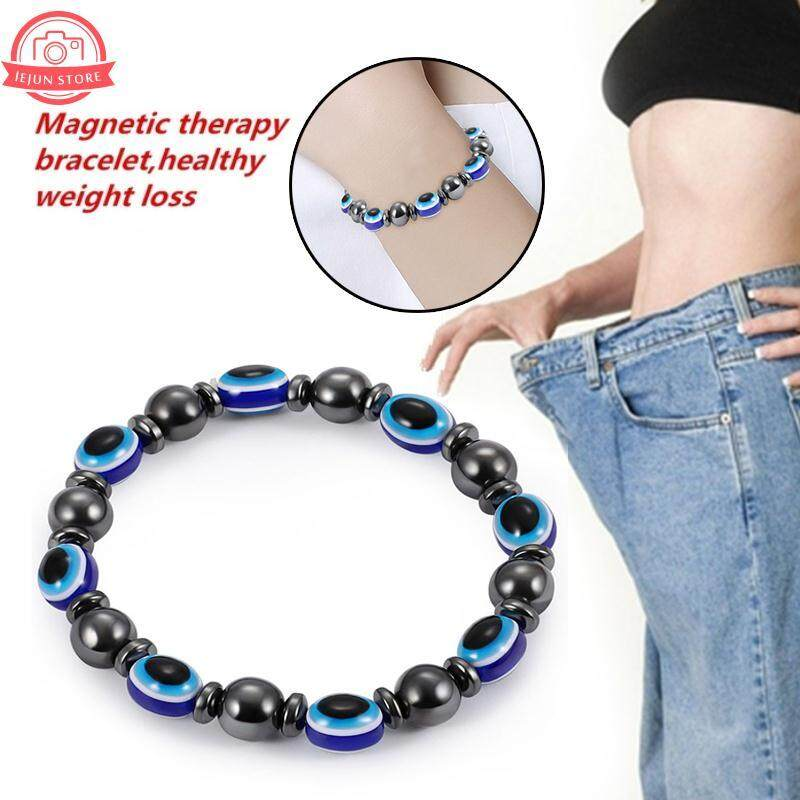 Lejun Black Fashion Relieve Stress Slimming Bracelet Magnetic Beaded Bracelet By Lejun Store