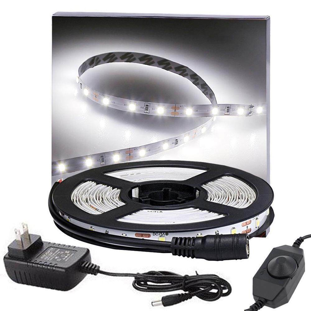Rodeal Dimmable LED Light Strip Kit With UL Listed Power Supply, 300 Units SMD 2835 LEDs, 16.4ft/5m 12V LED Ribbon, Non-waterproof, 3000K White Lighting Strips - intl Singapore