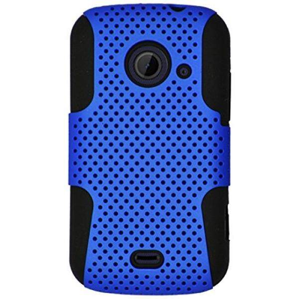 Smartphone Cases Eagle Cell Hybrid TPU Mesh Protective Case for ZTE Z667/Zinger/Prelude 2/Whirl 2 - Retail Packaging - Black/Blue - intl