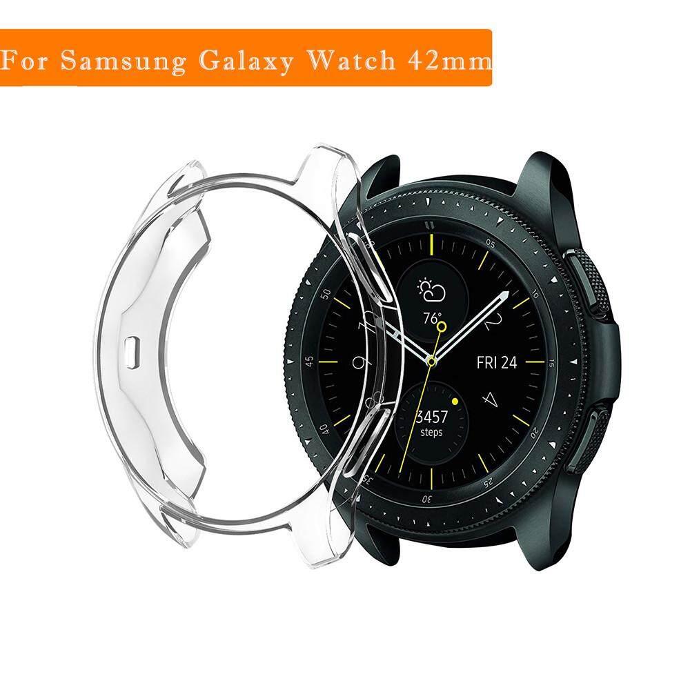 Lambertshop Ultra TPU Lembut Tipis Perlindungan Casing Pelindung Silikon untuk Samsung Galaxy Watch 42 Mm