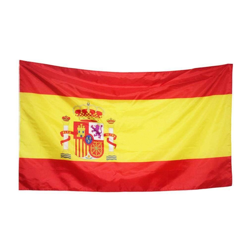 Bendera Piala Dunia Bendera Mini Kecil Genggam Ukuran Bendera dengan Tangan Tiang Gaya: Spanyol Int