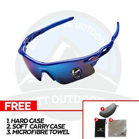[ BEST SELLER ] Robesbon Polarized Cycling Bike Sun Glasses Outdoor Sports Bicycle Bike Sunglasses Goggles Eyewear - Slick Blue