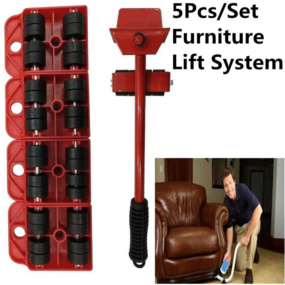 Furniture Lifter Moves Wheels Mover Sliders Kit Home Moving Lifting System