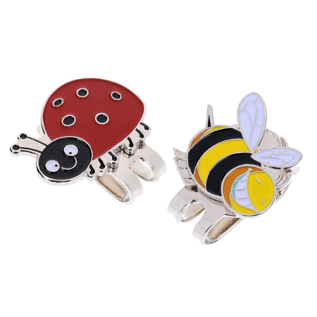 Miracle Shining 2pcs Portable Mini Alloy Golf Ball Marker With Magnetic Golf Hat Clip By Miracle Shining.