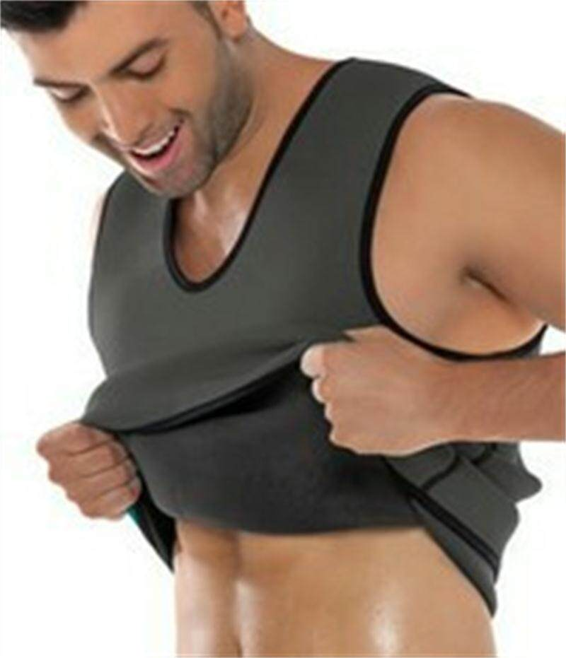 ลดไขมันหน้าท้องเข็มขัดหน้าท้องชายเสื้อกั๊กเหงื่อเป็นพิเศษชุดกระชับสัดส่วน Neoprene หน้าท้อง Thermo เชปแวร์ Tummy ความร้อนเสื้อยืดลายกล้ามเนื้อ.