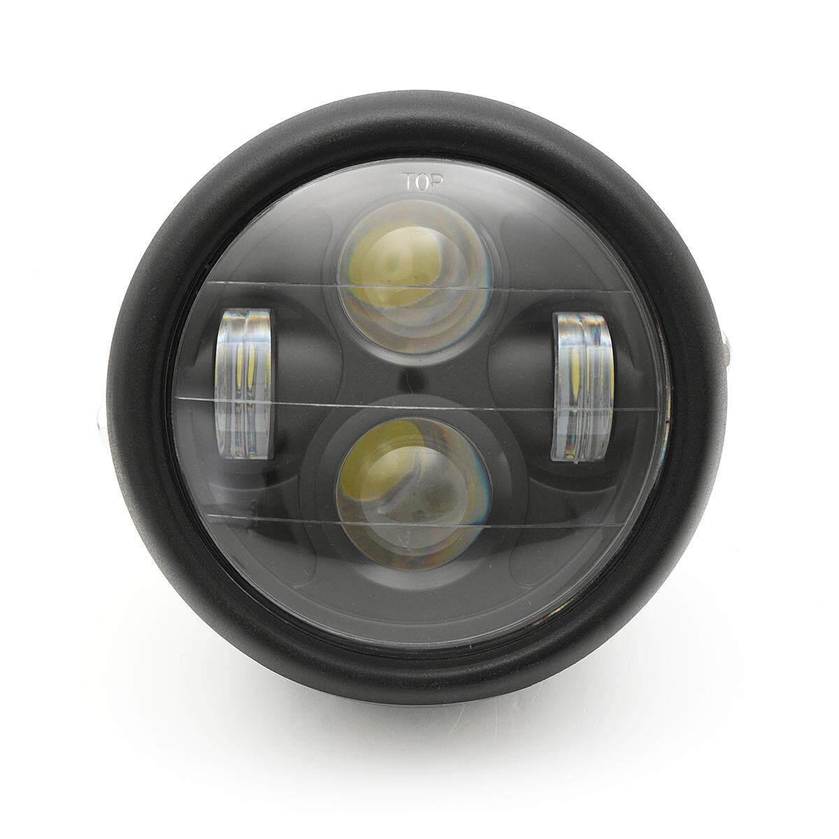 Sepeda Motor Hitam Daymaker Proyektor LED Bohlam Lampu Depan untuk Harley (Hitam)-Intl