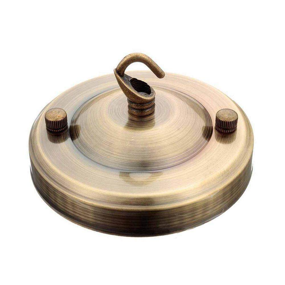 Buy Sell Cheapest 1pcs Bracket Papan Best Quality Product Deals Plat Besi Universal Metal Ceiling Solid Hook Plate Fitting For Chandelier Suspension Light Antique Brass