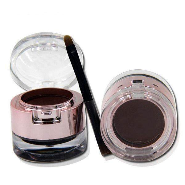 New 2 in 1 Dark Brown Eyebrow Powder +Eyeliner Gel With Brush Long Lasting Kit - intl Philippines